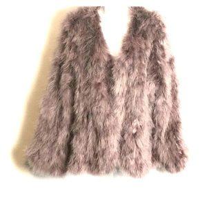 Anna Scholz turkey feather jacket size 18